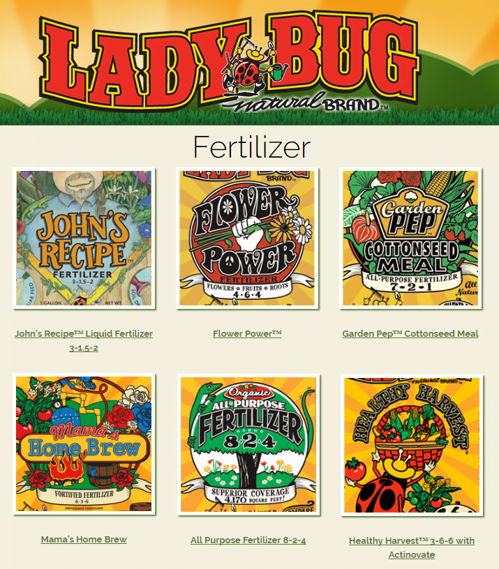 Lady Bug Brand Fertilizers